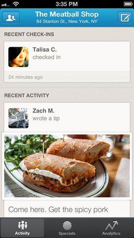 Foursquare for businesses screenshot 2