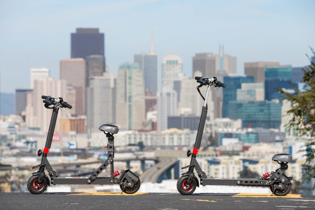 Eon Scooter Sit or Stand at Twin Peaks in SF